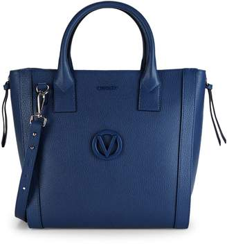 Mario Valentino Valentino By Charmont Convertible Pebbled Leather Tote