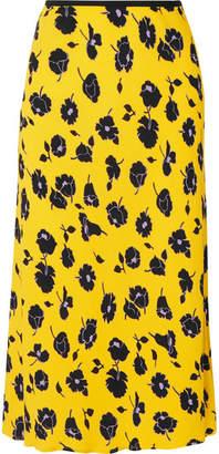 Diane von Furstenberg Mae Floral-print Crepe Midi Skirt - Yellow