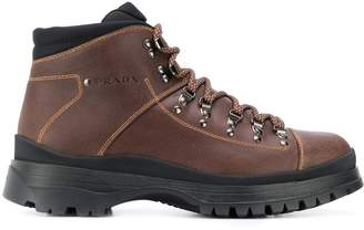 Prada hiking style ankle boots