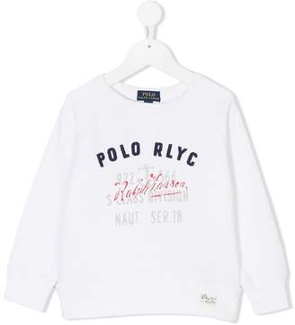 Ralph Lauren mixed-print sweatshirt