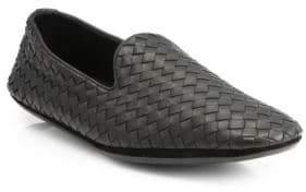 Bottega Veneta Fiandra Intrecciato Foulard Leather Slippers