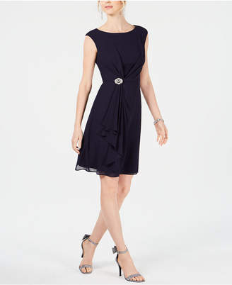 Jessica Howard Draped Rhinestone Dress