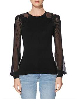 GUESS Soutache Mesh Holly Sweater