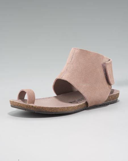 Pedro Garcia Ankle-Cuffed Flat Sandal, Blush