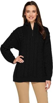 Carraigdonn Carraig Donn Kilronan Unisex Wool 1/2 Zip Sweater