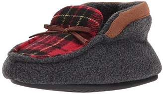 Dearfoams Boys' Plaid Bootie Slipper