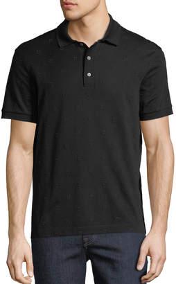 Salvatore Ferragamo Men's Gancio-Embroidered Polo Shirt