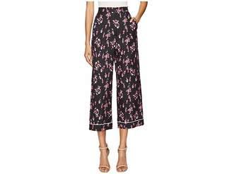 Sonia Rykiel Roses Print Pants Women's Casual Pants