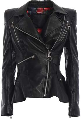 Philipp Plein Ailena Leather Jacket