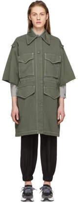MM6 MAISON MARGIELA Khaki Short Sleeve Large Pocket Coat