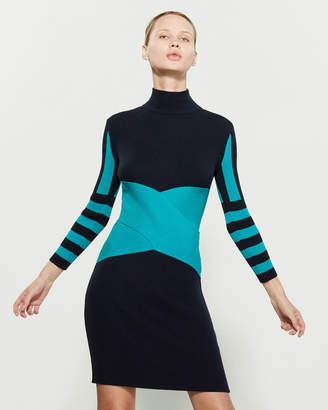 Wilson Knitss Mock Neck Bodycon Dress