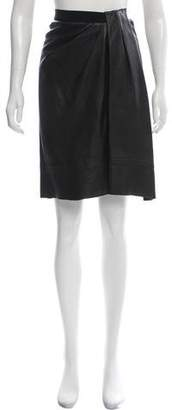 Marc Jacobs Leather Knee-Length Skirt