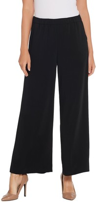 Susan Graver Petite Stretch Woven Pull-On Wide-