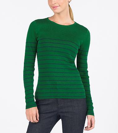 Fine Gauge Striped Jersey Sweater