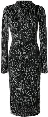 Kenzo fitted metallic dress