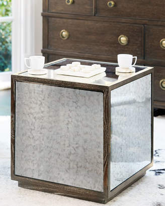 At Neiman Marcus Bernhardt Clarendon Mirrored End Table