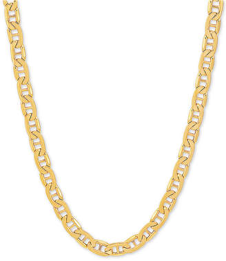 """Italian Gold Men Marine Link 22"""" Chain Necklace in 10k Gold"""