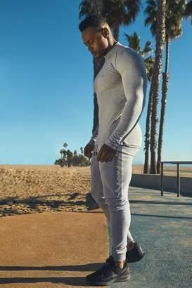 boohoo Active Long Sleeve Funnel Neck Raglan T-Shirt
