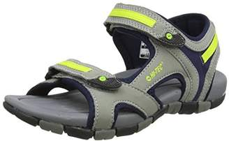 Hi-Tec Unisex Kids GT Strap Junior Hiking Sandals, Grey (Cool Grey/Majolica Blue/Limoncello 051), 12 Child UK (31 EU)