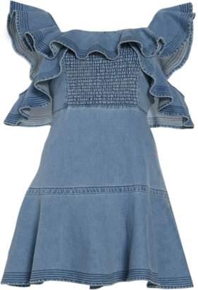 Tanya Taylor Denim Lara Dress