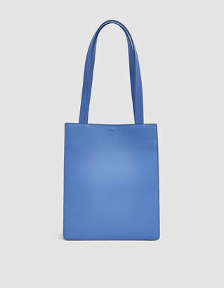 Baggu Medium Leather Retail Tote in Cornflower