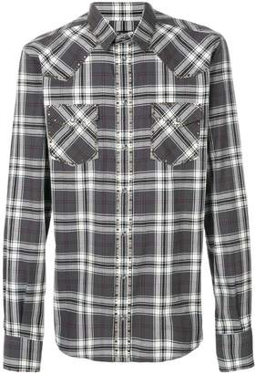 Dolce & Gabbana checked studded shirt