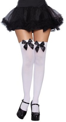 Dreamgirl Bow Top Stockings