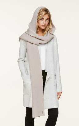 Soia & Kyo AVY rib knit scarf with attached hood