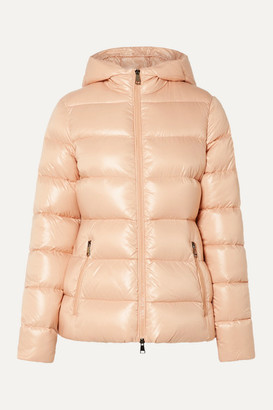 Moncler Hooded Quilted Shell Down Jacket - Peach