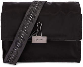 Off-White Off White Zipped Flap Bag in Black | FWRD