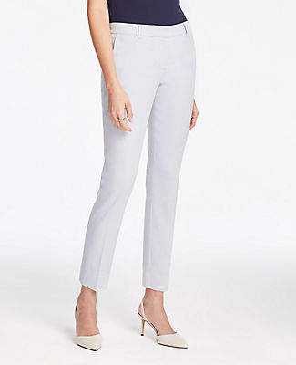Ann Taylor The Petite Ankle Pant In Linen Blend - Curvy Fit