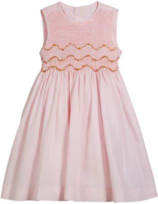Luli & Me Smocked Embroidered Sleeveless Dress, Size 4-6X