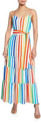 Alice + Olivia Janan Spaghetti Strap Midi Peasant Dress
