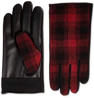Isotoner Men Faux-Leather Driving Gloves