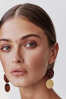 A.V. Max Resin Disc Drop Hoop Earrings