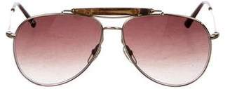 Gucci 24K Gold-Plated Aviator Sunglasses