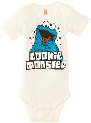 Sesame Street Logoshirt Baby Boys Body Cookie Monster Romper,7-12 Months (Manufacturer Size:74/80)