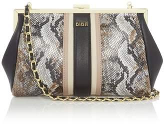 Biba Paige Frame Leather Clutch Bag