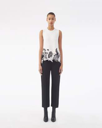 3.1 Phillip Lim Lace-Embellished Ribbed Tank