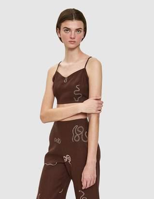 Paloma Wool Fortunata Linen Crossback Top