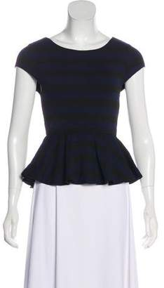 Alice + Olivia Striped Short Sleeve Top