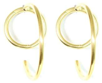 Soko Globe Criss-Cross Hoop Jacket Earrings