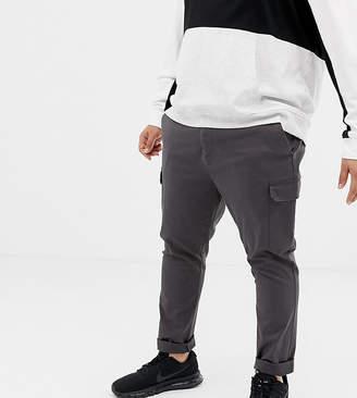 Asos Design DESIGN Plus skinny cargo pants in washed black