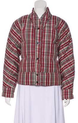 Diane von Furstenberg Plaid Down Jacket