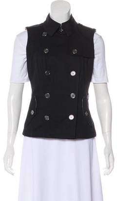 Burberry Structured Button-Up Vest w/ Tags