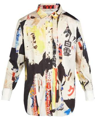 Marques Almeida Marques'almeida - Oversized Printed Satin Shirt - Mens - Multi