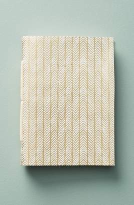 Anthropologie Gilded Leather Journal