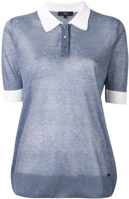 Fay sheer polo shirt