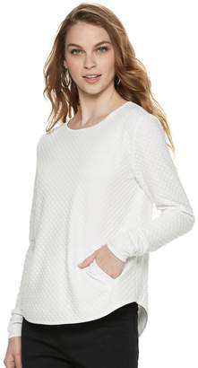 Elle Women's 2-pocket Pullover Top