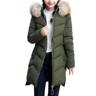 Changeshopping Blouse Women Long Cotton-Padded Parka,Jackets Pocket Hooded Coats Changeshopping